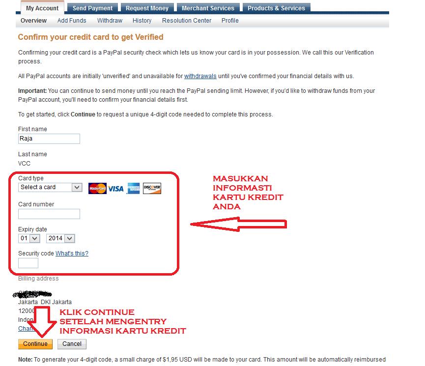 get verified kedua paypal