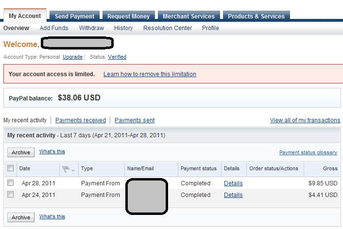Jenis Limit Paypal dan Pencegahannya