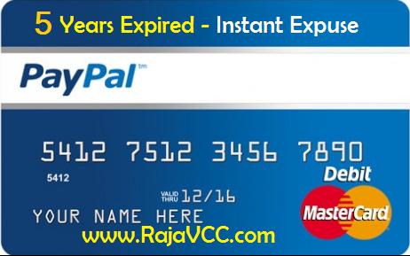vcc paypal adalah